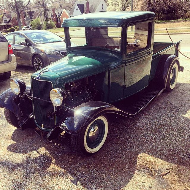 Got to take a spin in this slick ride today #vintage #ford