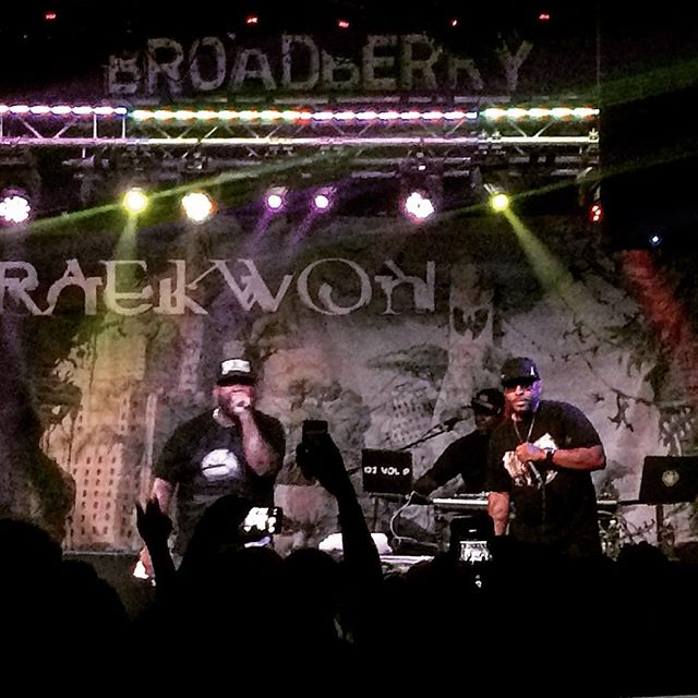 Got to mix @raekwon last night #wutang #CREAM #hiphop #livesound #thebroadberry