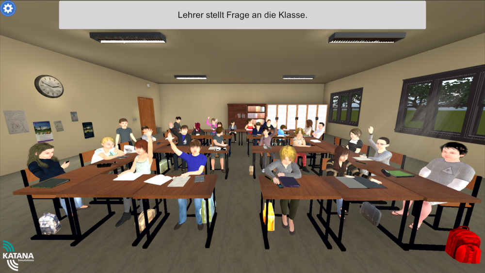 Interactive Classroom Design Tools : Katana simulations