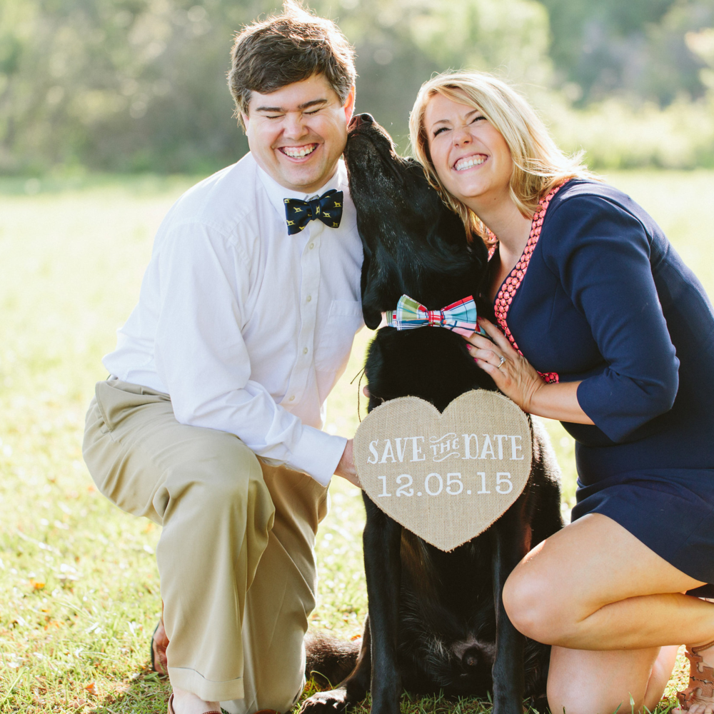 Riley Barr | Ring Bearer | Wilmington Brittany adopted Riley about 3 months after we started dating. Ryan was a bit hesitant at first but quickly grew to love this goofy, silly, ball chasing puppy! Riley brings so much joy to us each and every day, and we couldn't imagine our lives without him!
