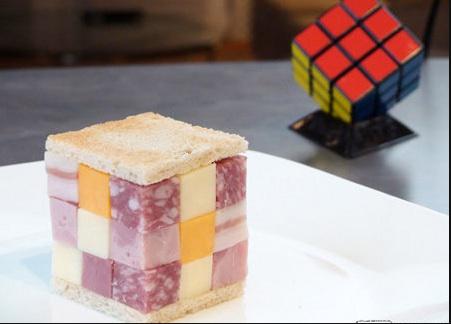 rubik's cube sandwich
