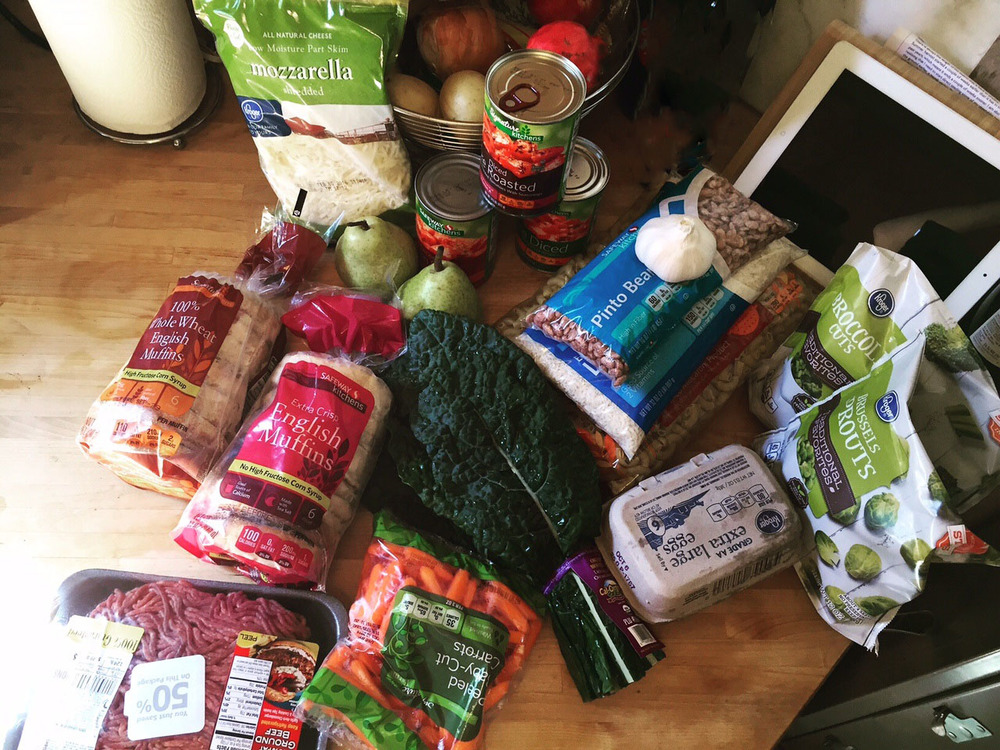 Erika's groceries for the week of the Challenge