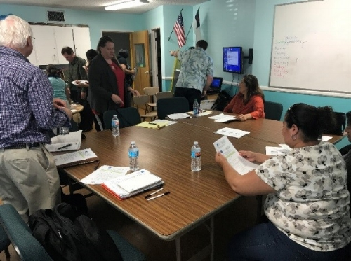Our Director of Policy and Advocacy Diane Wilkinson leads an advocacy workshop with parents and community representatives in Lemon Grove.