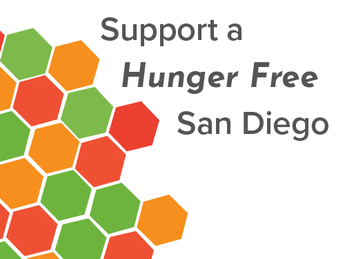 Hunger Free Begins with You - When you donate to the San Diego Hunger Coalition you join the fight against hunger in our community. Your contribution helps us provide support to expand school meals, remove barriers to accessing CalFresh, and advocate for those in need. You can bring us one step closer to ending hunger in San Diego County.