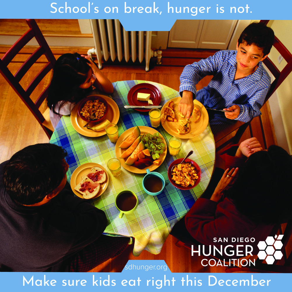Kids are home for the holidays! - It's wonderful having the kids home during the holidays, but it can also be a strain on household budgets, parents' schedules, and menu ideas.Make sure they are eating properly while school's out. Check out the USDA's choosemyplate.gov website for ideas and helpful hints.