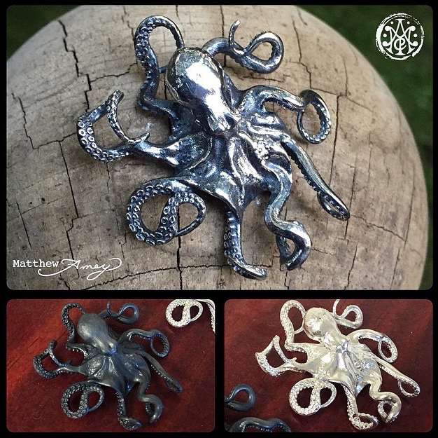 Octopus pendant designed by matthew amey independent tattoo octopus pendant designed by matthew amey independent tattoo dela where mozeypictures Choice Image