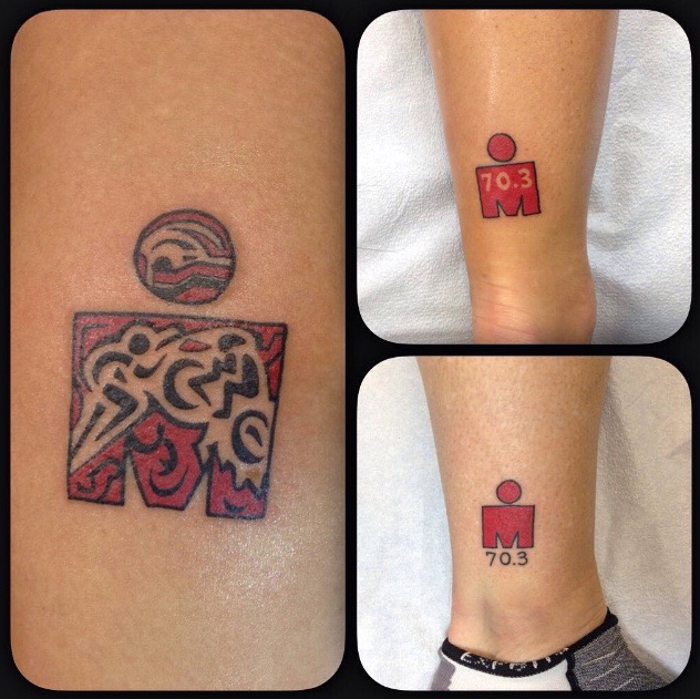 Eagle Man tattoos (half of an Ironman Triathlon) by James Delzel