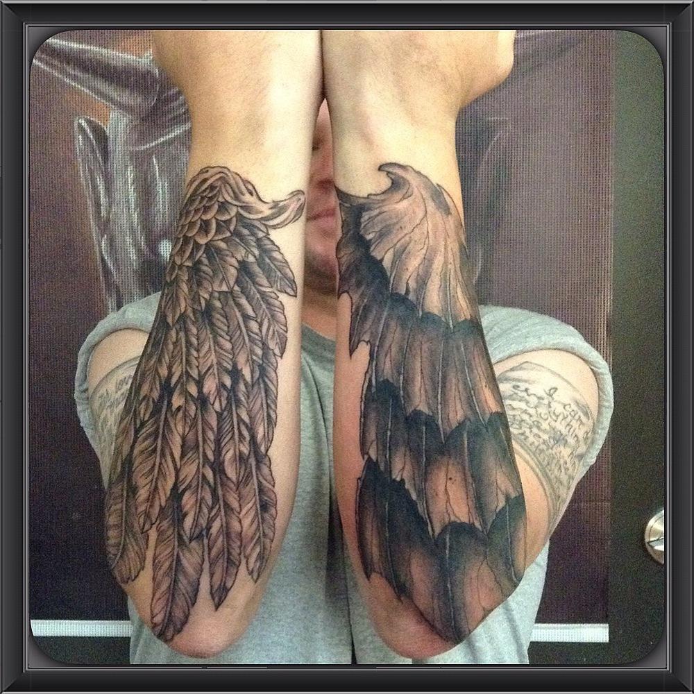 Tattoo Ideas Good Vs Evil: Tattoo Of The Week: Good & Evil Wings...