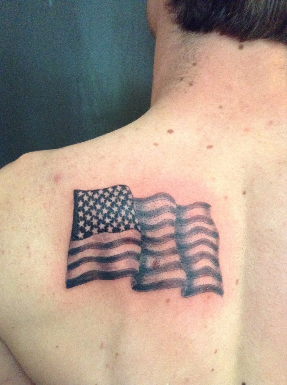 b5a63c964 Tattoo of the Week: American Flag... — Independent Tattoo - Dela-where?