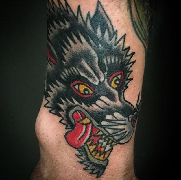 Tattoo Of The Week Big Bad Wolf Independent Tattoo Dela Where