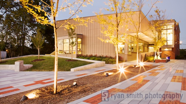 Hummelstown Library designed by Floura Teeter Landscape Architecture