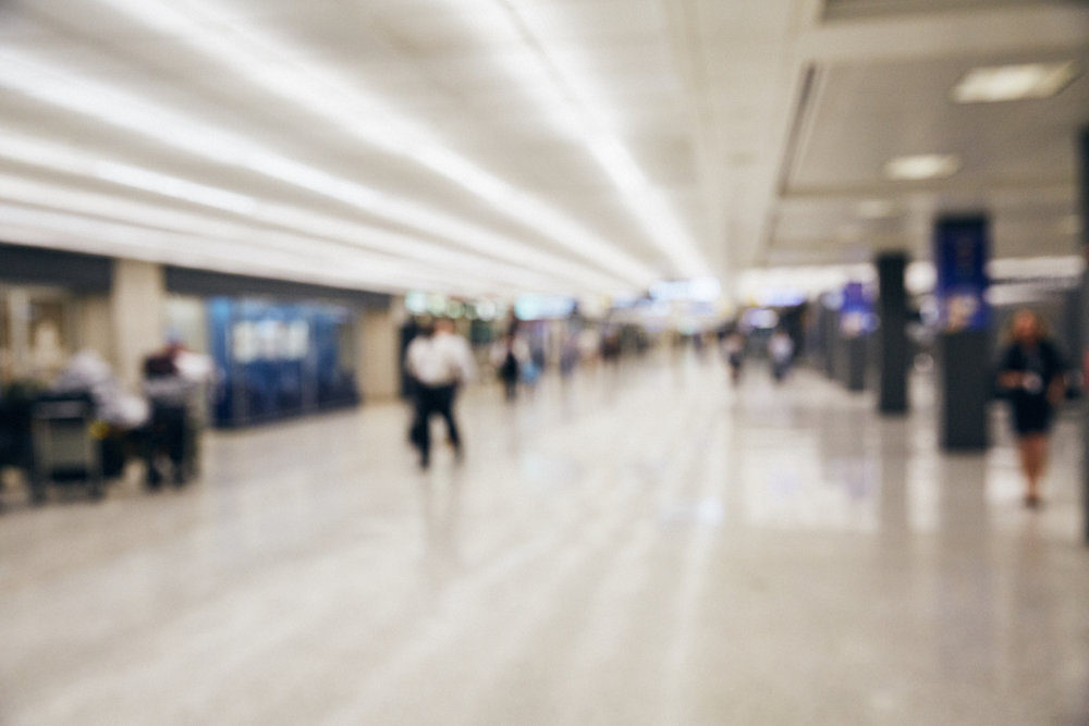 Baggage Claim 10 - JetBlue - Would love to do a really soft focus shot here of talent walking with military duffle