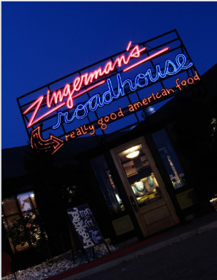 The Zingerman's Roadhouse Sign Was Created By Mark Chalou, Of Ann Arbor's Mr. Neon Lighting.  (Using hard-to-find antique, hand-drawn glass tubes that Mark found in an old glass shop on the East Side of Ann Arbor.)