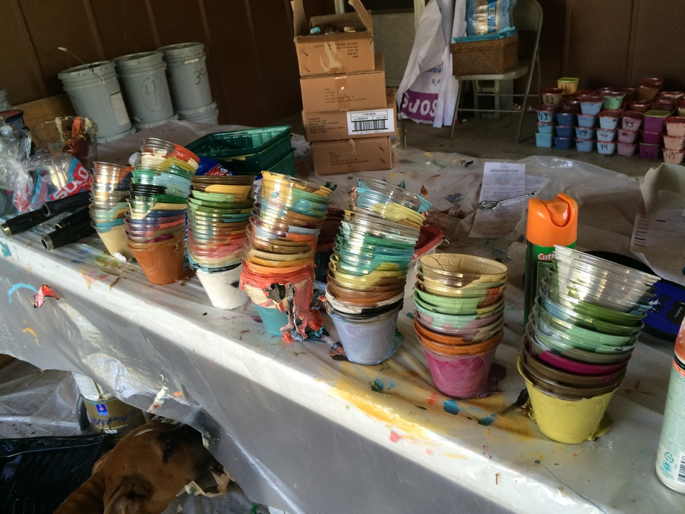 The paint organization department, aka Brooke's carport.