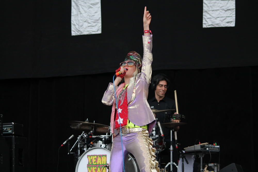 Karen O of the Yeah Yeah Yeahs at Outside Lands 2013 in Golden Gate Park, San Francisco.