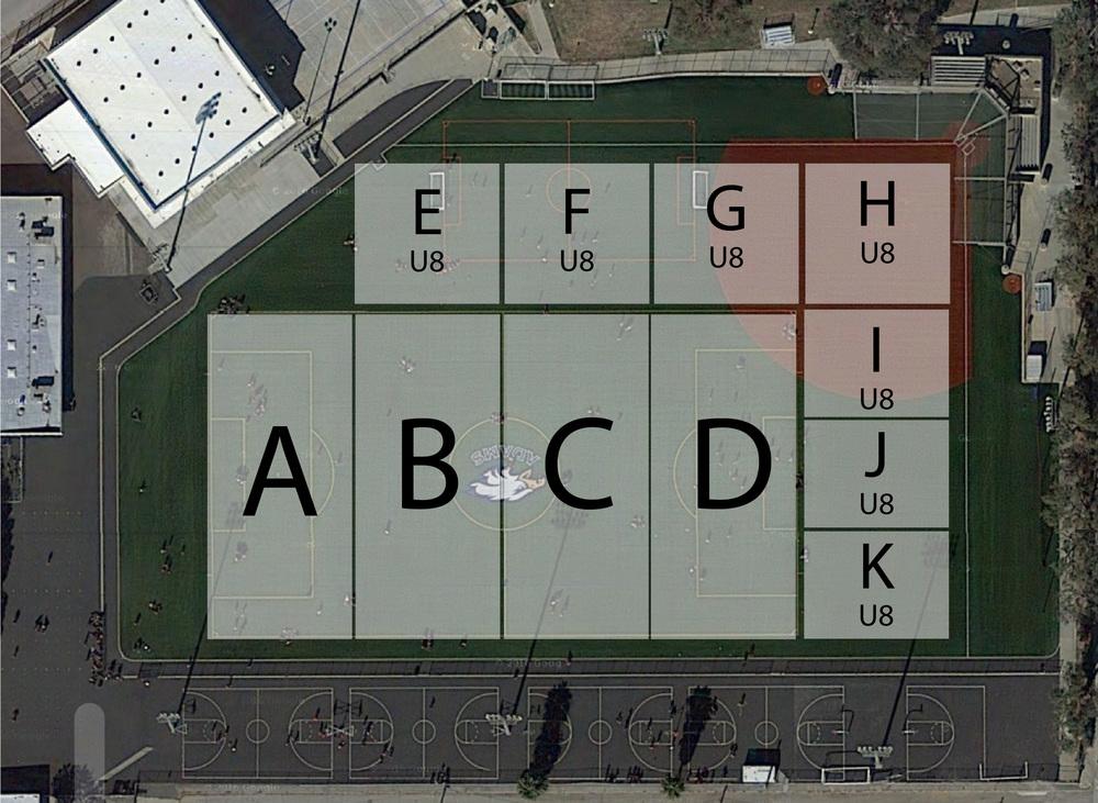 Adams field Practice Slots