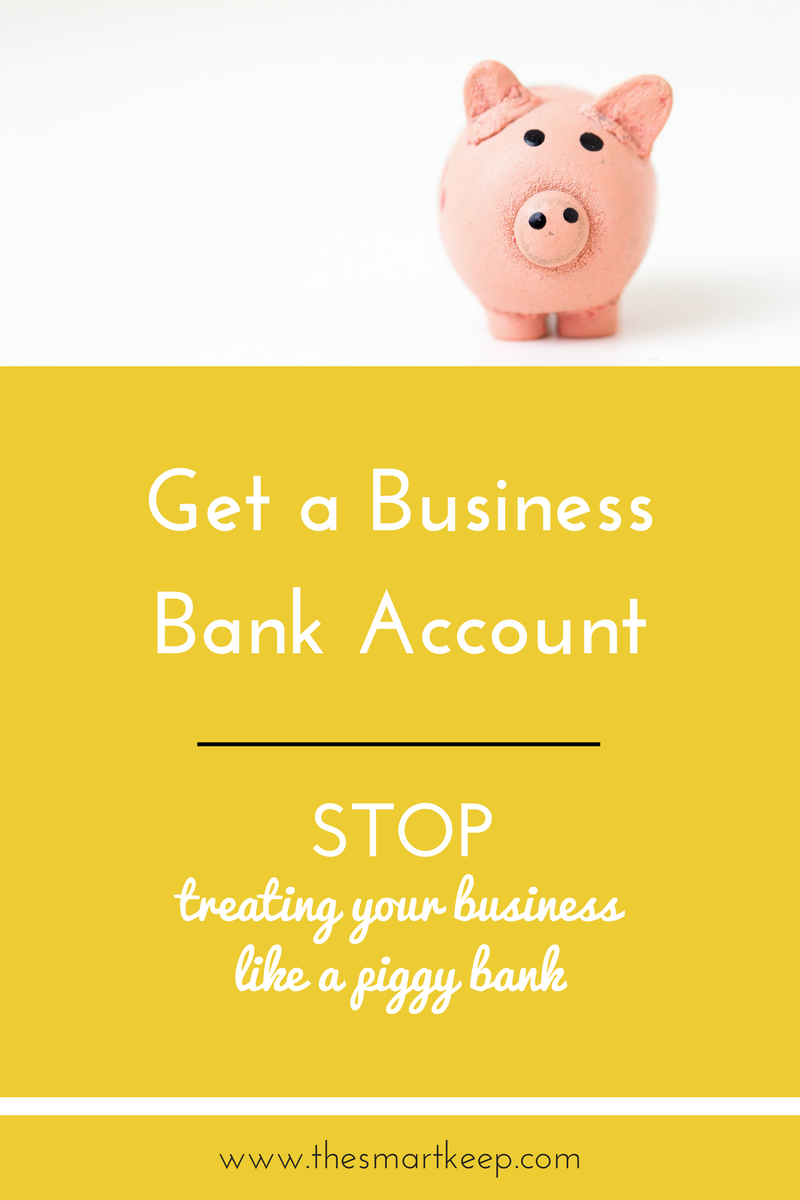 You need to get a business bank account if you're going to take your coaching business seriously. Stop treating your business like a piggy bank. This blog post tells you how!