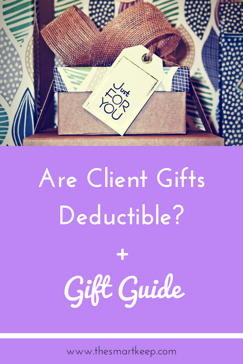 Are gifts for clients tax deductible? Find out here and get the female entrepreneur gift guide!
