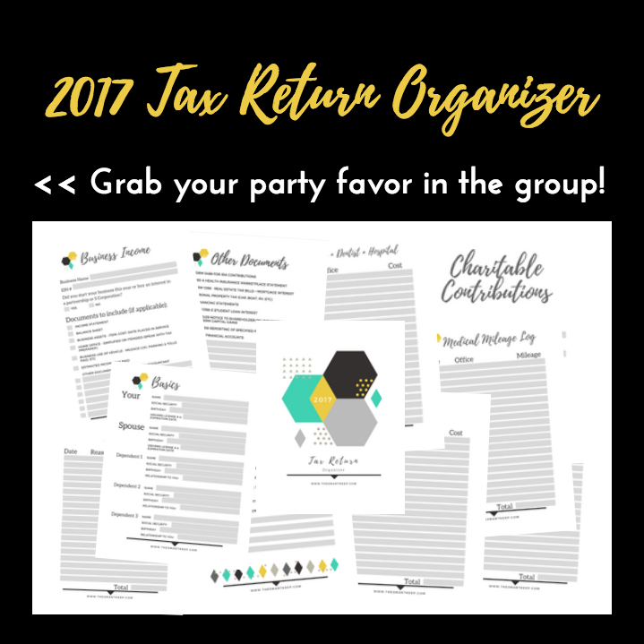 get help organizing your business tax return information and papers to give to your accountant or tax preparer - put it in a binder or folder - printable
