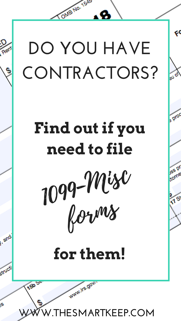 Do you have contractors? Find out if you need to file 1099-MISC forms for them.