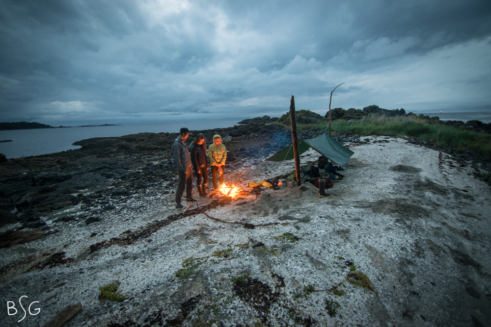 There is nothing more brilliant than enjoying a fire with friends in the wilderness (just remember to build it below the high-tide mark for 'Leave No Trace' etiquette).
