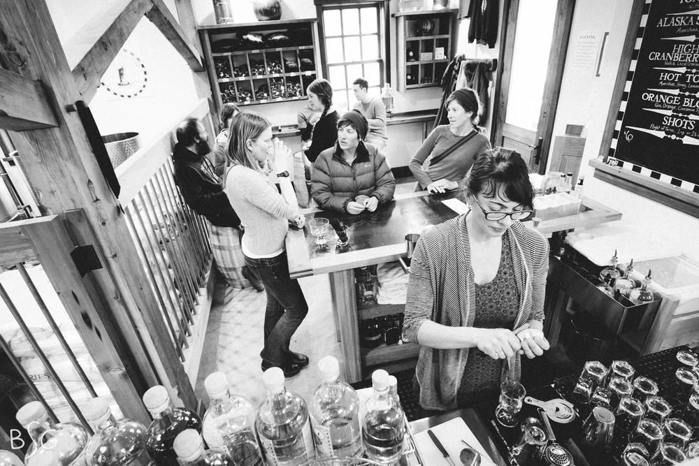 The community crowds the tiny tasting room to soak in the communal atmosphere, sip spirits infused with local ingredients, and catch up with neighbors. Port Chilkoot LLC hired their first full time employee to keep up with the tasting room.