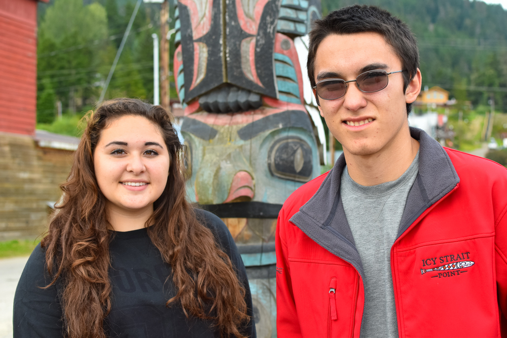 Alaska Skaflestad and Randy Roberts are the Hoonah high school students involved in the coastal subsistence survey project, having ten discussions with resource users about coastal subsistence in their home community.