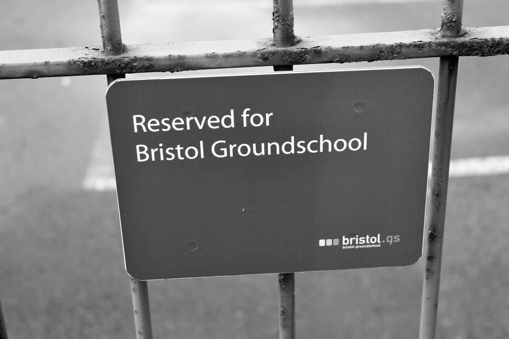 Mark A Humphries bristol groundschool car park sign.JPG