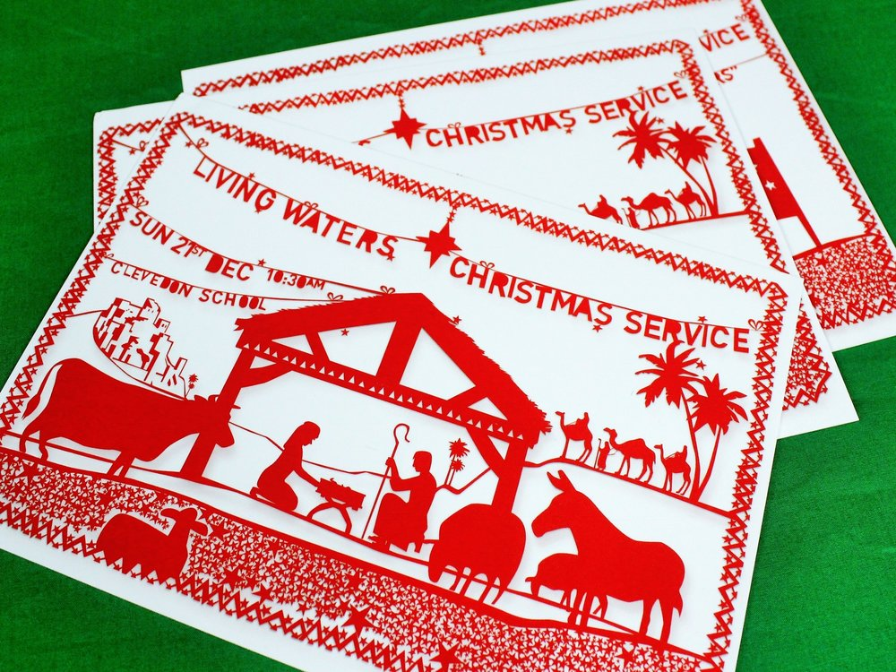 Christmas Service Invitations