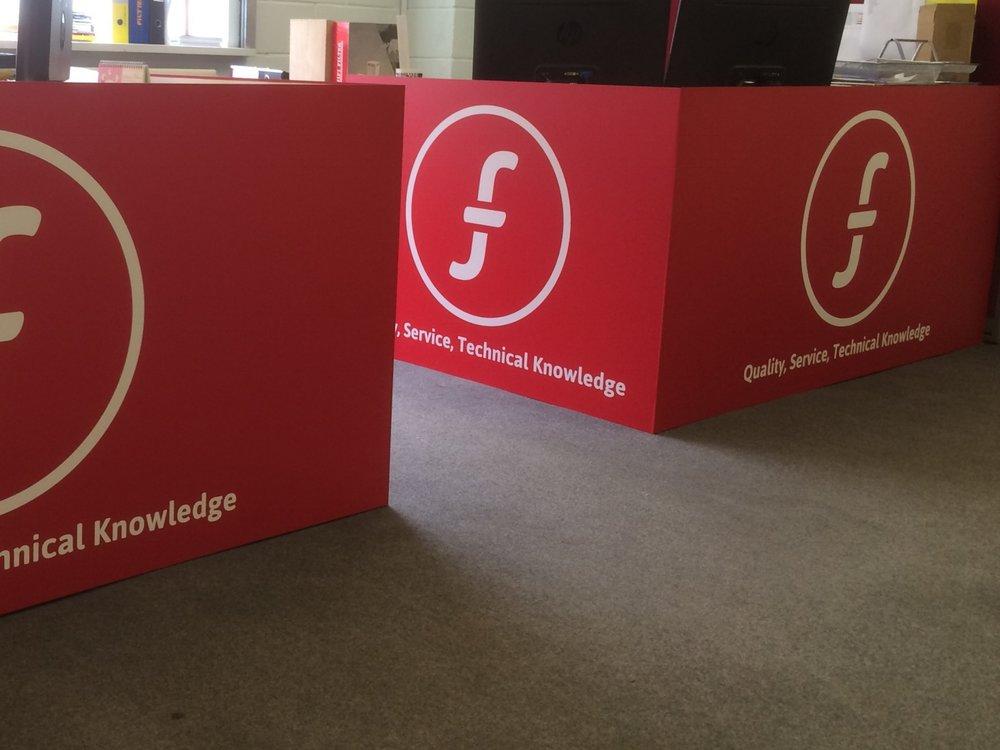 Office Desk Branding