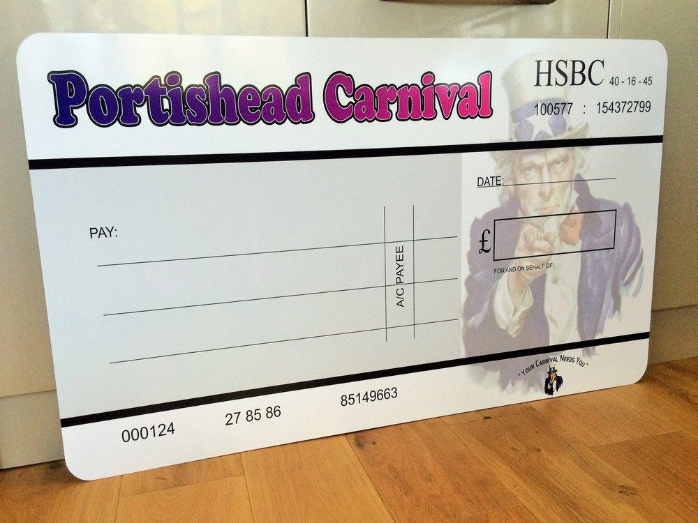 Presentation Cheque