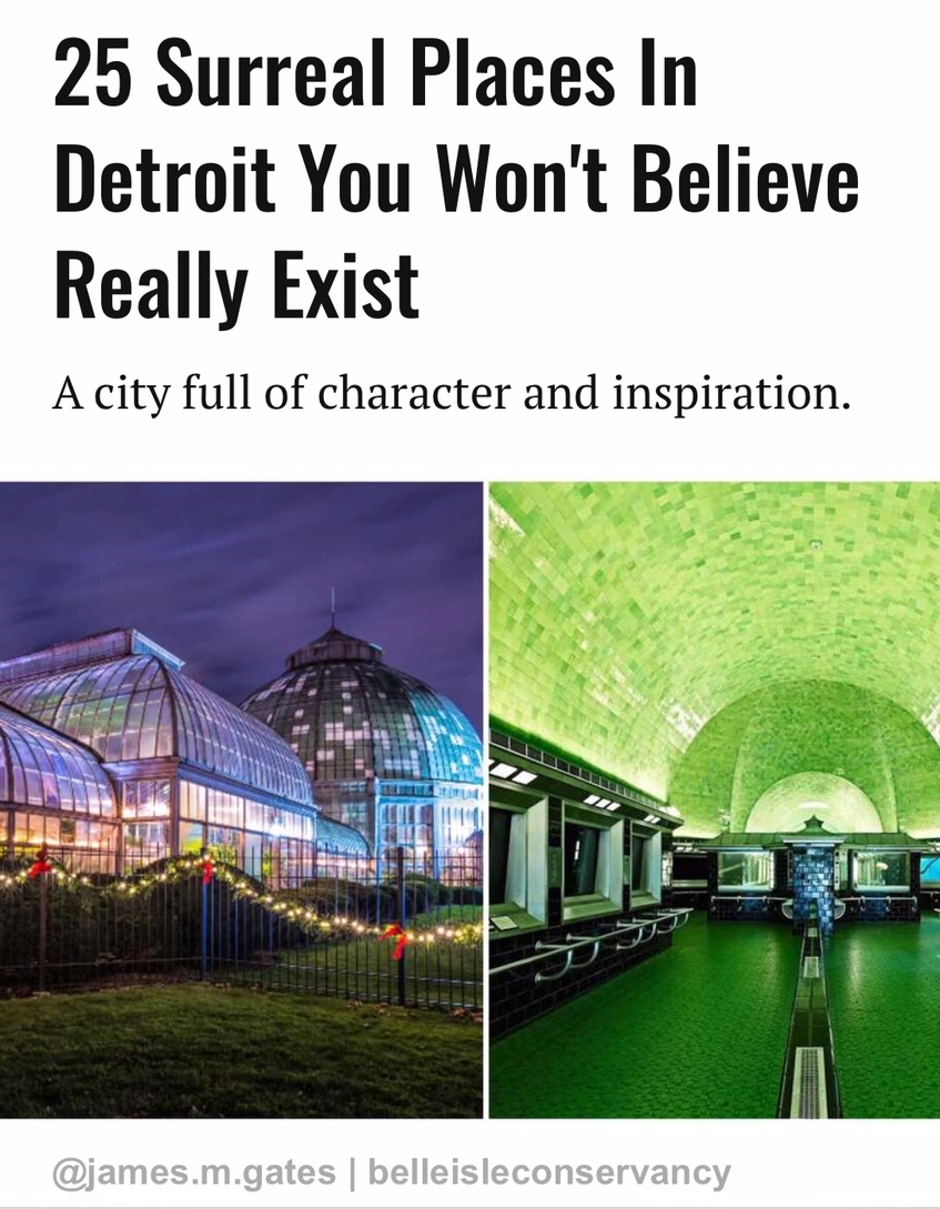 25 Surreal Places In Detroit You Won't Believe Really Exist - Some of my photography was featured in this article. Check it out.