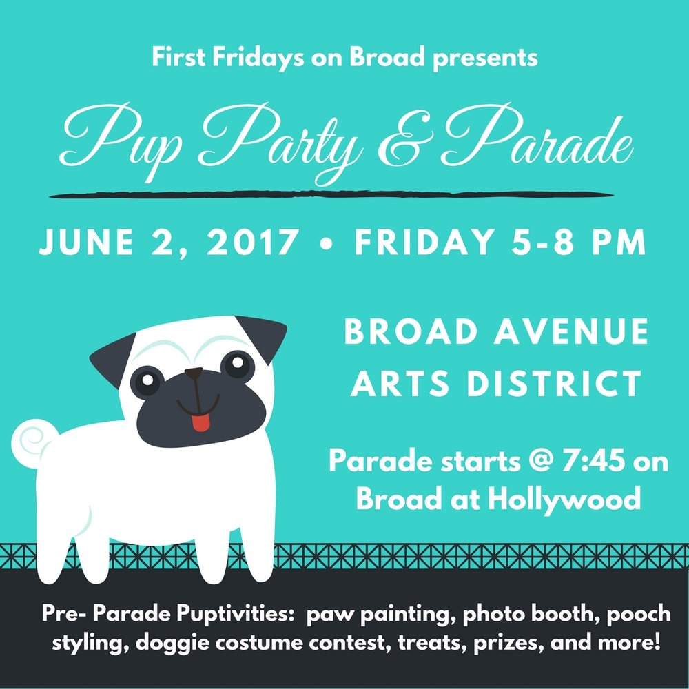Local fashion stylist, Lauren Draffin will be here with pup accessories to help you get your pooch ready for the parade!!  AND IT'S ALL FREE!!