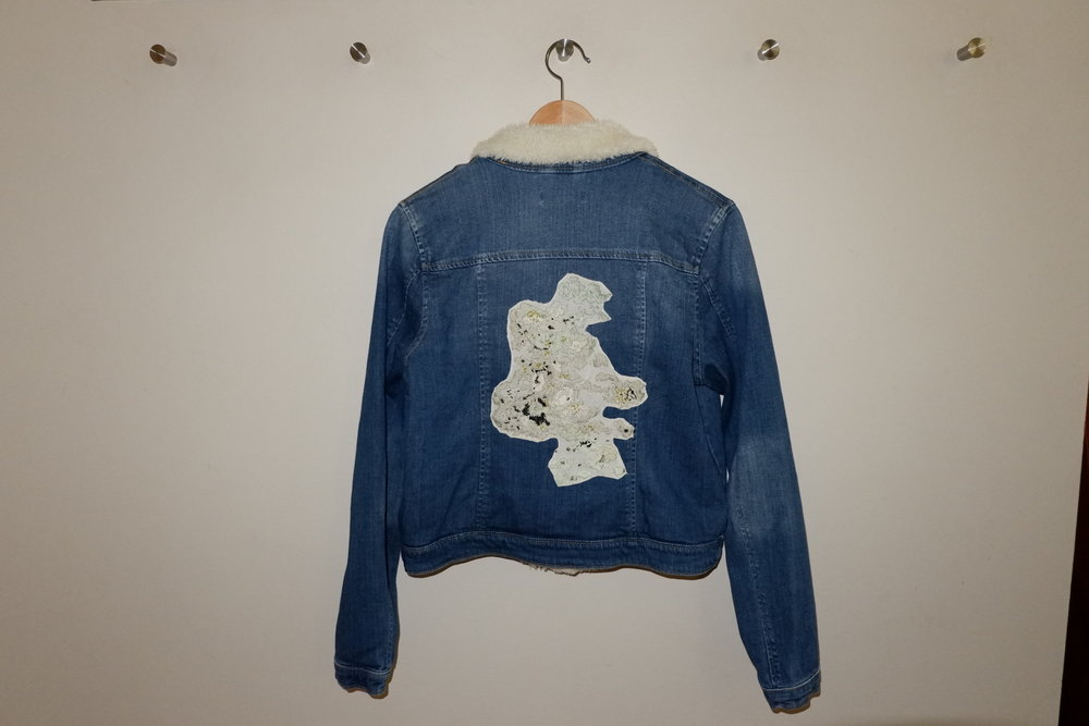 GREEN LICHEN DENIM JACKET