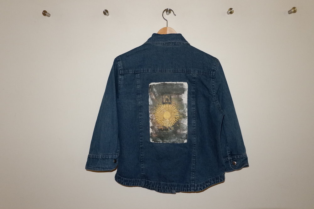YOU ARE A CHILD OF THE SUN DENIM JACKET