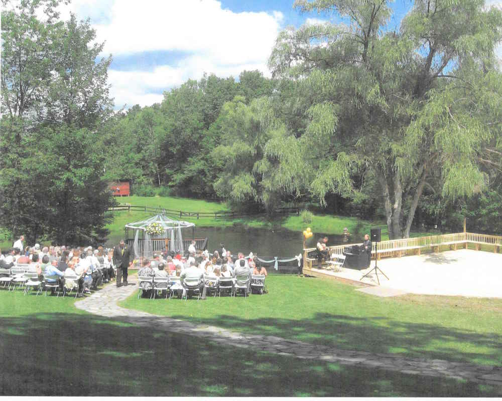 The outdoor wedding ceremony location in the early 2000s