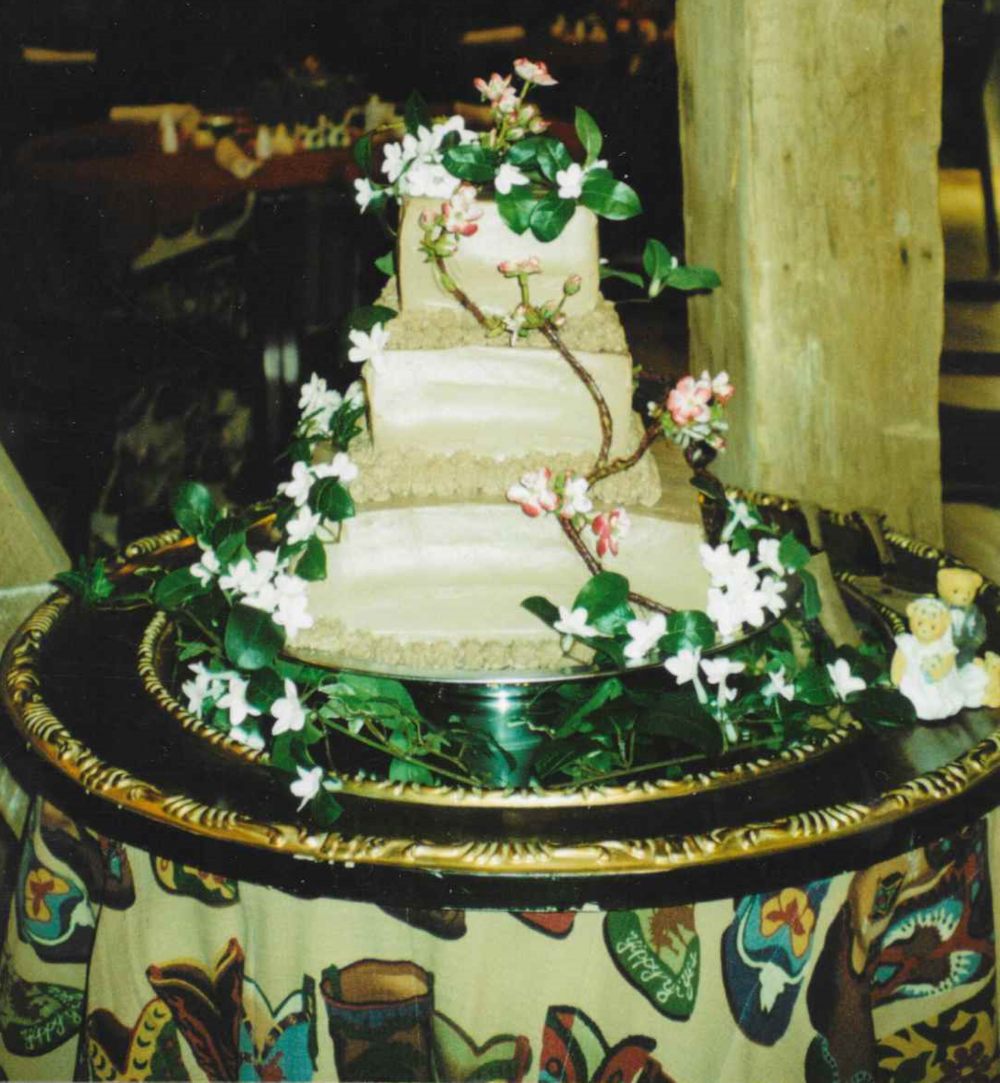 A wedding cake created by Christiane
