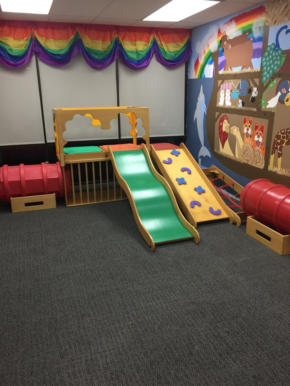 The play room - Our children's rooms have been designed to encourage play, a love of God's word, creativity, and discovery of God!