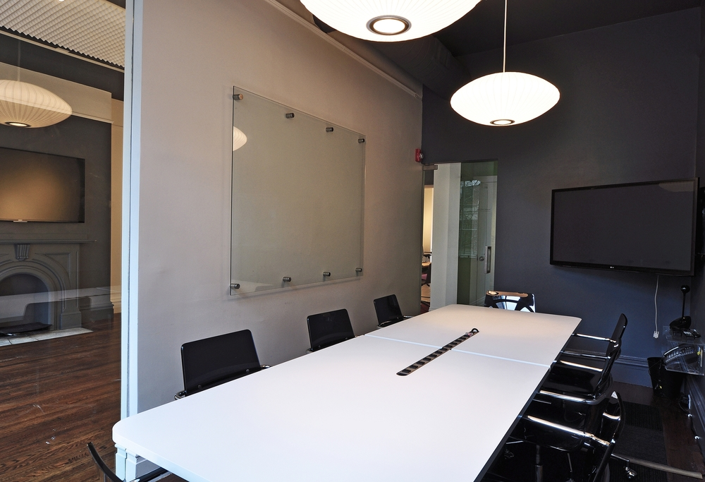 MANCHESTER (Capacity 8 people) $80 per hour / $260 half day / $420 full day Includes: Monitor, Mark-Up Wall, Direct Phone Line Make a Reservation: Call (857) 239-9424 or Email Us Payment: 50% to hold reservation, 50% day of meeting Location: 129 Newbury Street, 2nd Floor (Map)