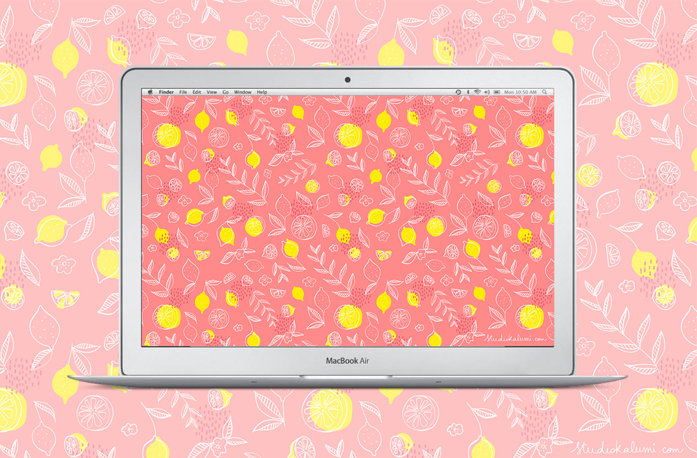 pink lemons + macbook