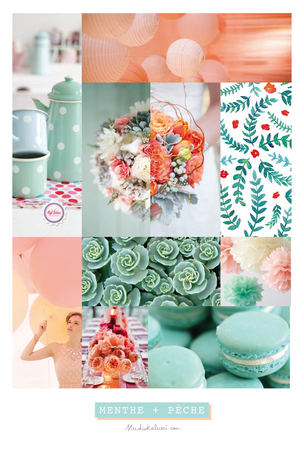 Wedding Moodboard Mint + Peach