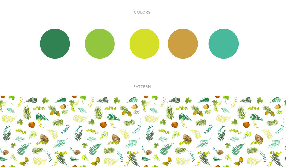 Colour palette and pattern