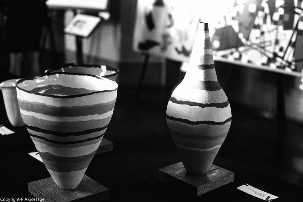 Ceramic bowls by Loren Kaplan, Photo courtesy of Robert Gossage