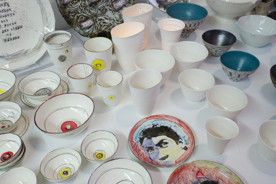 Ceramic plates and bowls by Marla Buck
