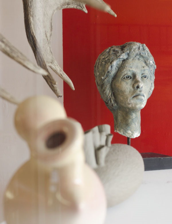 Plaster bust of a woman