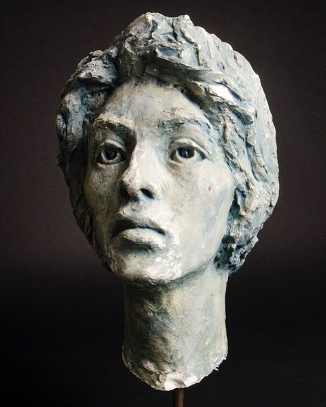 Plaster Bust of a Woman. #plaster #bust #sculpture #woman #feelingblue #grumpy #moody #staring #available