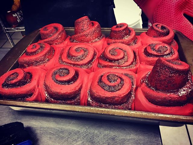 Tomorrow is FRIDAY December 8th, and you know what that means...it's time to treat yourself to a Red Velvet Cinnamon Roll. Every Friday and Saturday in December we will be featuring these rolls of joy. So come in first thing tomorrow while they last! Due to high demand we cannot take call in orders over the phone for these, it is first come first serve. Let us help you start off your weekend the right way! #redvelvet #redvelvetcinnamonrolls #yum #casbahcoffee #treatyourself #treatyourfriends