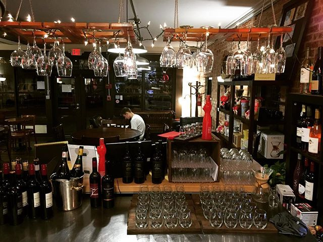 Our wine bar is up and running for the night. Come be our guest, sip on some wine, and enjoy our open mic night! #wineflights #openmic #crestviewnightlife