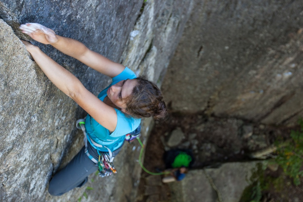 Hanna Lucy on Commander Salamander (5.10c).