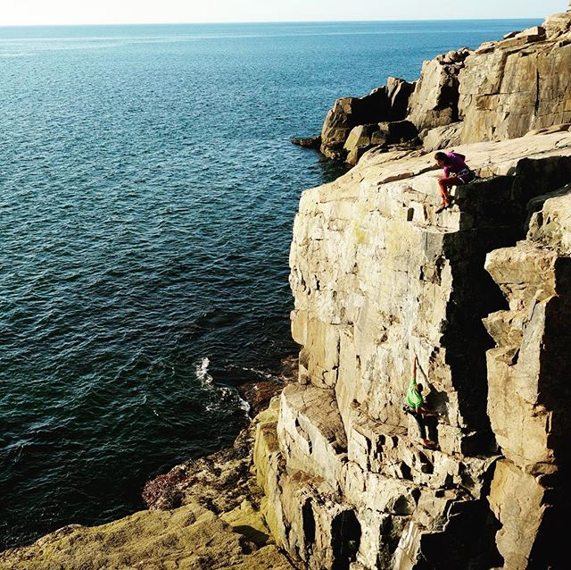 Hold on folks, it's coming. #rockclimbsofacadia